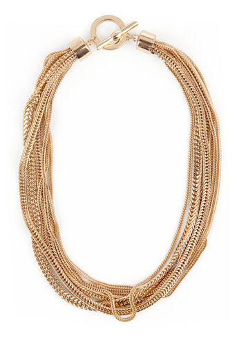 Warehouse, MULTI CHAIN NECKLACE Gold Colour 0