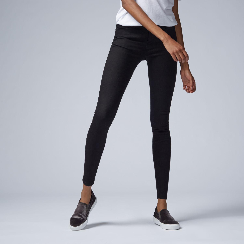 Warehouse, Ultra Skinny Cut Jean Black 1