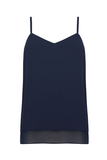 Warehouse, DOUBLE LAYER CAMI Navy 0
