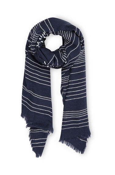 Warehouse, Stitch Detail Scarf Navy 0