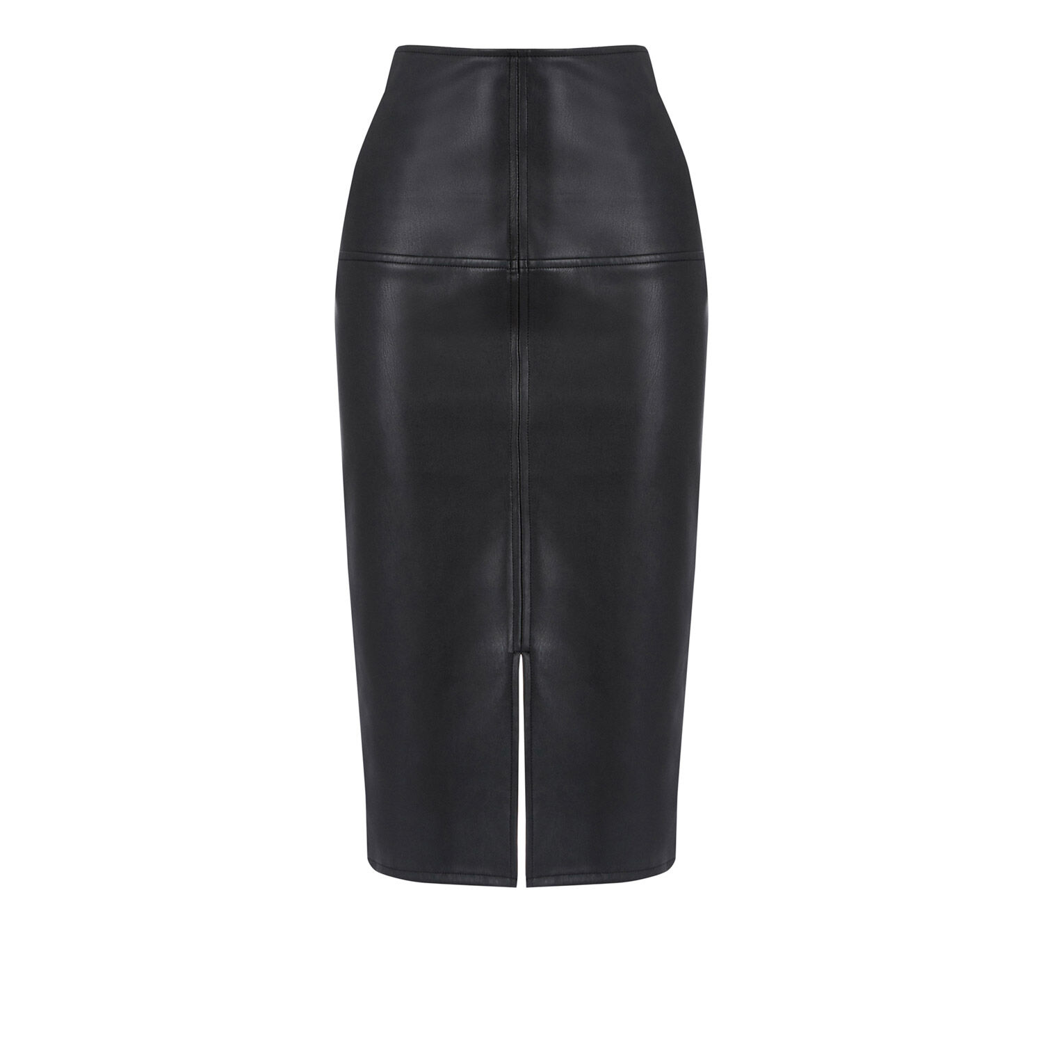 faux leather pencil skirt warehouse