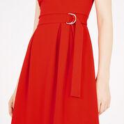 Warehouse, SLEEVELESS D RING DRESS Bright Red 4