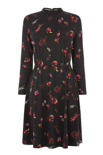 Warehouse, SNOWDROP FLORAL PRINT DRESS Multi 0