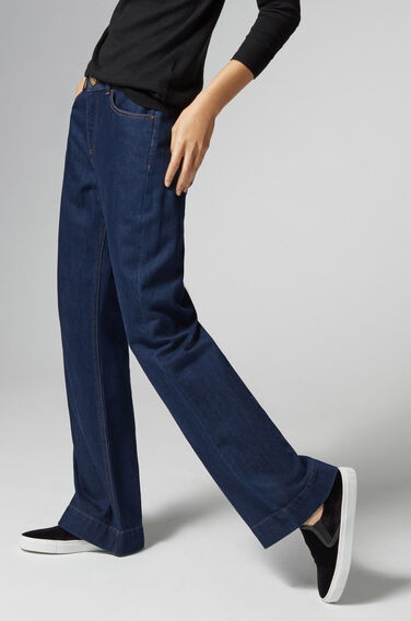 Warehouse, Super Wide Cut Jeans Indigo Denim 1
