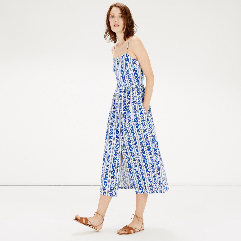 Warehouse, Printed Cami Midi Dress Blue Pattern 1