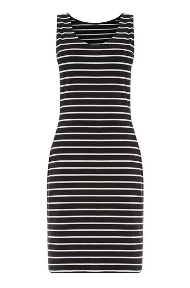 Warehouse, VEST DRESS Black Stripe 0