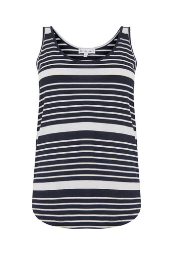 Warehouse, STRIPE SWING VEST Blue Stripe 0