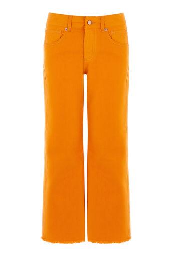 Warehouse, Kortere jeans met wijde pijpen Oranje 0