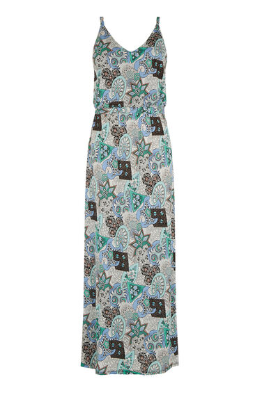 Warehouse, 80S TILE PRINTED MIDI DRESS Multi 0