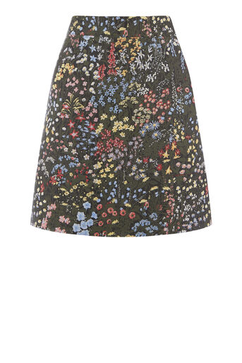 Warehouse, WILD GARDEN JACQUARD SKIRT Multi 0