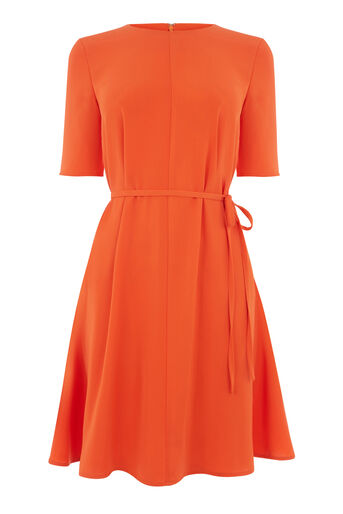 Warehouse, FLIPPY DRESS Orange 0