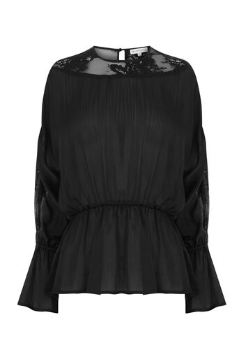 Warehouse, LACE BACK TOP Black 0