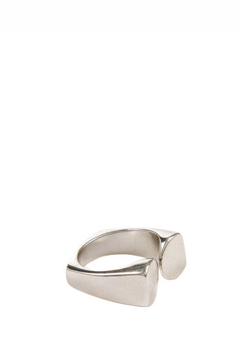 Warehouse, Crescent Ring Silver Colour 0