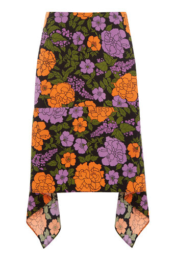 Warehouse, MICA CARNATION SKIRT Orange 0
