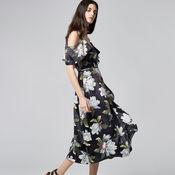 Warehouse, MAGNOLIA WRAP DRESS Multi 1