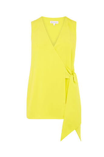 Warehouse, KNOT FRONT TOP Yellow 0