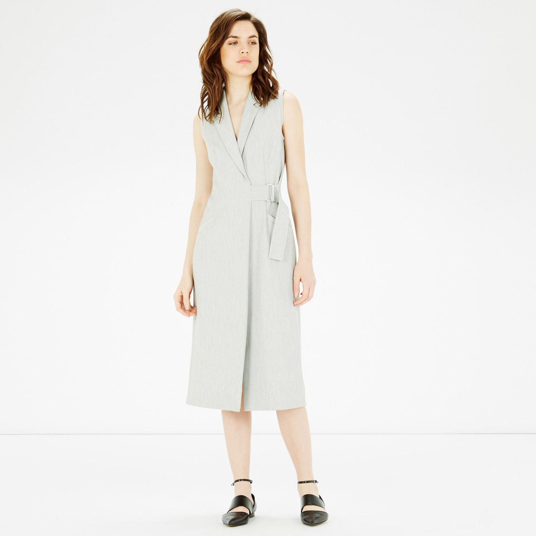 Warehouse, PREMIUM WAISTCOAT DRESS Light Grey 1