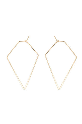 Warehouse, LARGE DIAMOND SHAPE EARRINGS Gold Colour 0
