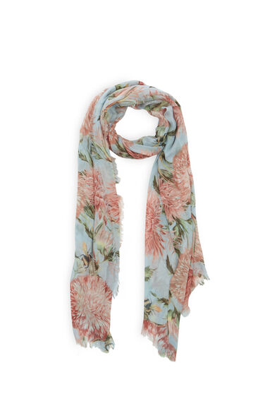 Warehouse, Pom Pom Print Scarf Multi 0