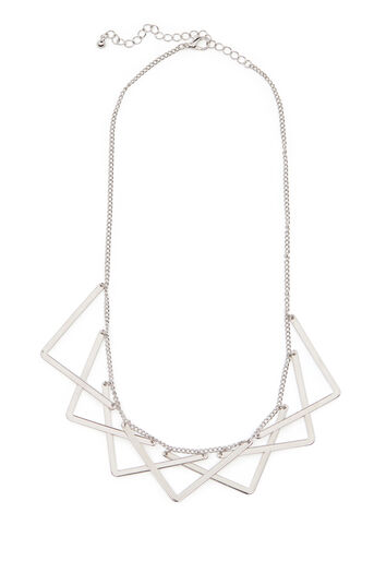 Warehouse, GEO SHAPED NECKLACE Silver Colour 0