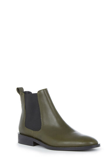 Warehouse, CHELSEA ANKLE BOOT Khaki 0
