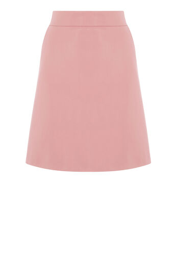Warehouse, Faux Leather Pelmet Skirt Light Pink 0