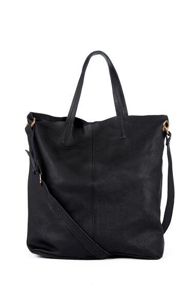 Warehouse, Eyelet Detail Shopper Bag Black 1