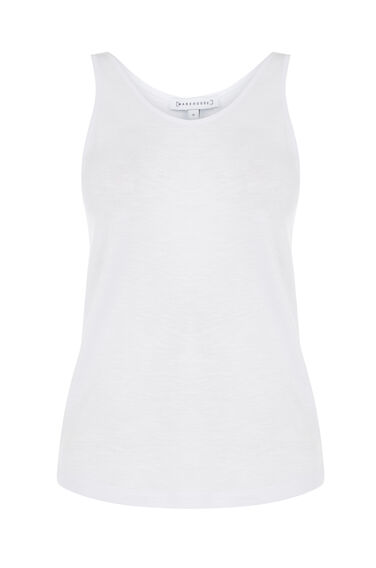 Warehouse, FITTED SLUB VEST White 0