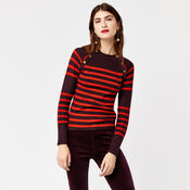 Warehouse, BUTTON DETAIL STRIPE JUMPER Red Stripe 4