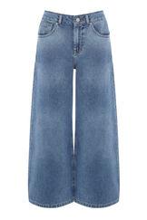 Warehouse, Wide Cut Jeans Mid Wash Denim 0