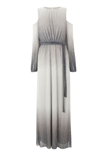 Warehouse, INT Ombre Cold Shoulder Maxi Silver Colour 0