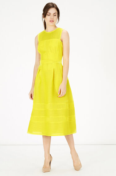 Warehouse, Formed Linear Prom Dress Yellow 0