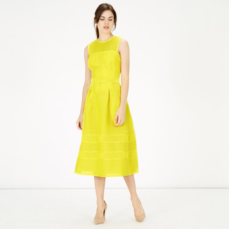 Warehouse, Formed Linear Prom Dress Yellow 1