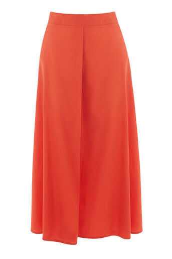 Warehouse, FULL COTTON MIDI SKIRT Bright Red 0