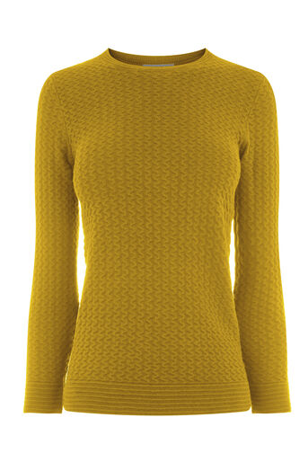Warehouse, RIPPLE STITCH JUMPER Mustard 0