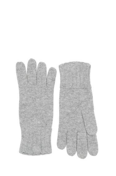 Warehouse, CASHMERE GLOVES Light Grey 0