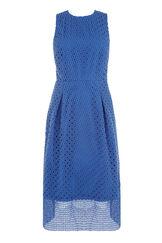 Warehouse, LINEAR DRESS Bright Blue 0
