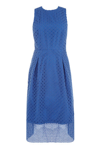 Warehouse, LINEAR DRESS Bright Blue 0