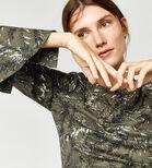 Warehouse, FERN PRINT BABYDOLL DRESS Green Print 4
