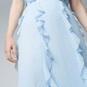 Warehouse, RUFFLE SPOT MIDI SKIRT Light Blue 4