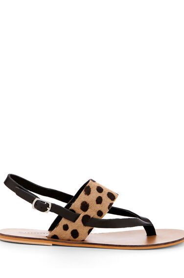Warehouse, CONTRAST TOE POST SANDAL Animal 0