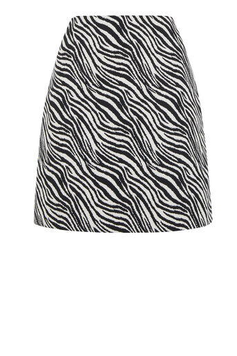 Warehouse, ZEBRA PELMET SKIRT Black Pattern 0