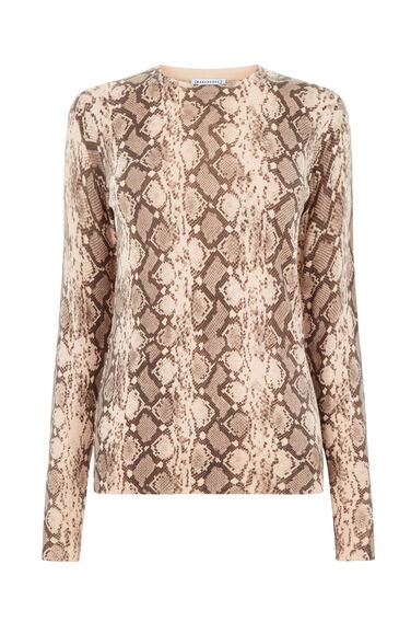 Warehouse, SNAKE PRINT JUMPER Light Pink 0