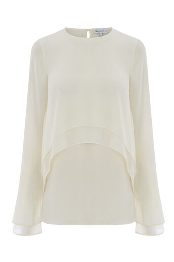 Warehouse, DOUBLE LAYER TOP Cream 0