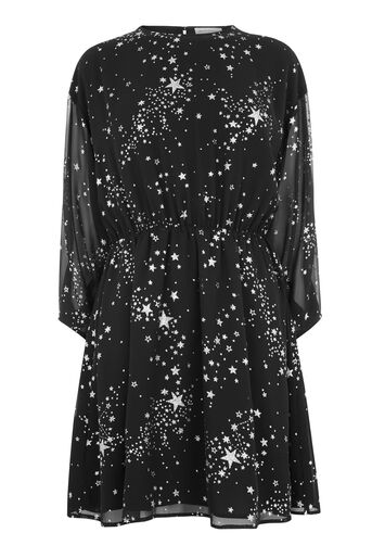 Warehouse, SPARKLE STAR DRESS Black Pattern 0