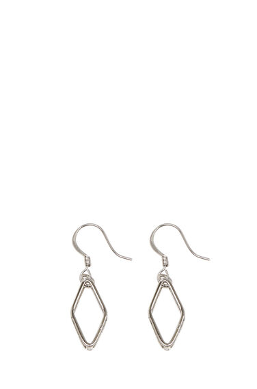 Warehouse, GEO DIAMOND EARRINGS Silver Colour 0
