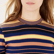 Warehouse, Stripe Ribbed Top Multi 4