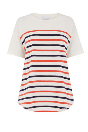 Warehouse, ENGINEERED STRIPE TOP Multi 0