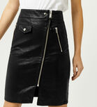 Warehouse, Biker Zip Skirt Black 4