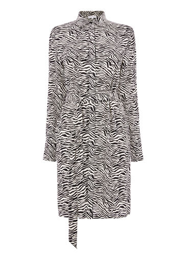 Warehouse, ZEBRA PRINT SHIRT DRESS Zebra 0